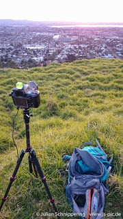 Making of Fotoshooting Mt. Eden Sonnenuntergang