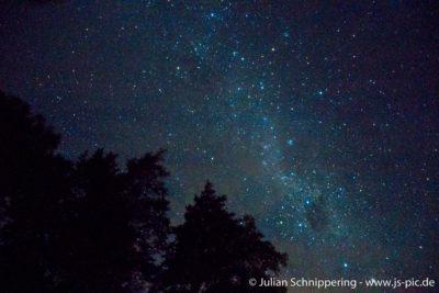 Sternenhimmel bei Nacht in Neuseeland